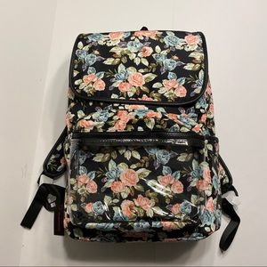 Women Floral Backpack W Organization Pouch Travel